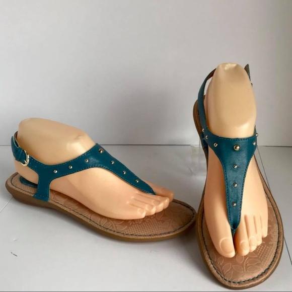 436f836fce0 Born Shoes - Born BOC CANDIA Blue Boho T-strap Sandals 8